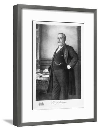 Benjamin Harrison, 23rd President of the United States of America, (1901)-Unknown-Framed Giclee Print