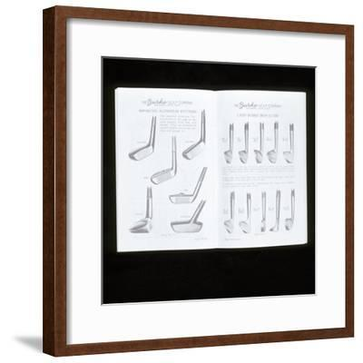 Burke Golf Co catalogue showing putters and ladies iron golf clubs, c1920s-Unknown-Framed Giclee Print