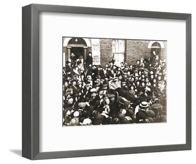 Sylvia Pankhurst, British suffragette, in a bath chair, London, June 1914-Unknown-Framed Photographic Print