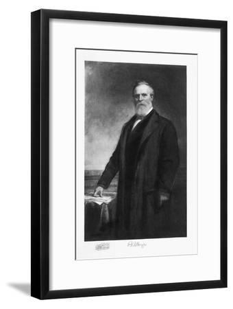 Rutherford B Hayes, 19th President of the United States of America, (1901)-Unknown-Framed Giclee Print