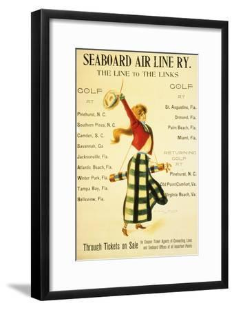 Poster for 'Seaboard Air Line Ry, The Line to the Links', American, c1905-Unknown-Framed Giclee Print