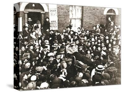 Sylvia Pankhurst, British suffragette, in a bath chair, London, June 1914-Unknown-Stretched Canvas Print