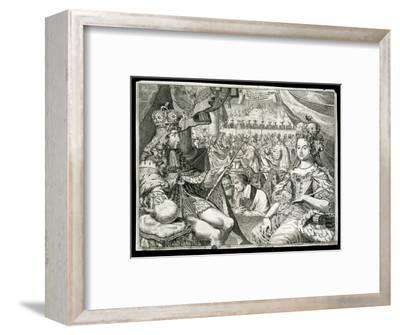 William III and Mary II, King and Queen of Great Britain and Ireland, c1689-Unknown-Framed Giclee Print