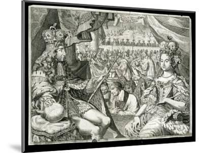 William III and Mary II, King and Queen of Great Britain and Ireland, c1689-Unknown-Mounted Giclee Print