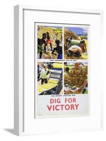 'Dig for Victory', propaganda poster for Britain's African colonies, c1940-Unknown-Framed Giclee Print