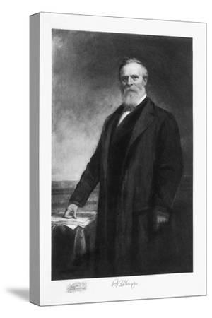 Rutherford B Hayes, 19th President of the United States of America, (1901)-Unknown-Stretched Canvas Print