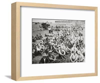 'Bonus Army' in Anacostia Park, Washington DC, USA, Great Depression, 1932-Unknown-Framed Photographic Print