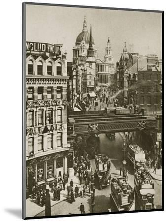 Spire of St Martin's Ludgate and St Paul's Cathedral, London, 20th century-Unknown-Mounted Photographic Print