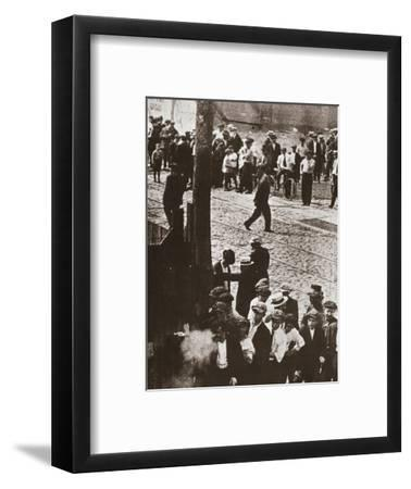Riot during a strike by Standard Oil workers, Bayonne, New Jersey, USA, 1915-Unknown-Framed Photographic Print