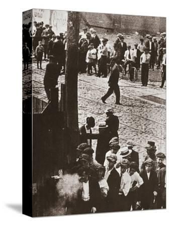 Riot during a strike by Standard Oil workers, Bayonne, New Jersey, USA, 1915-Unknown-Stretched Canvas Print