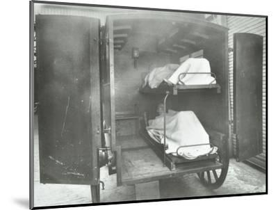 Interior of a horse drawn Metropolitan Asylums Board ambulance, London, 1939-Unknown-Mounted Photographic Print