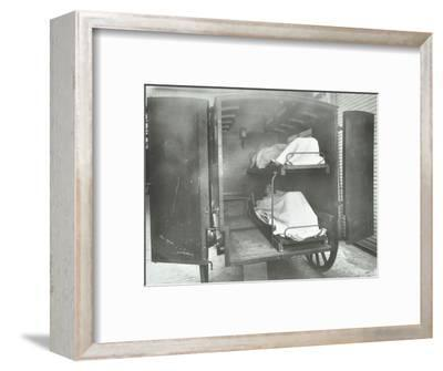 Interior of a horse drawn Metropolitan Asylums Board ambulance, London, 1939-Unknown-Framed Photographic Print