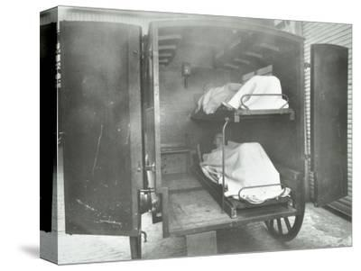 Interior of a horse drawn Metropolitan Asylums Board ambulance, London, 1939-Unknown-Stretched Canvas Print
