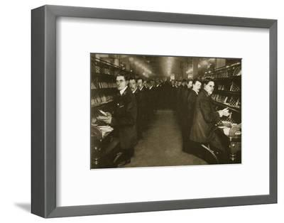 Staff sorting letters at the Post Office, Mount Pleasant, London, 20th century-Unknown-Framed Photographic Print