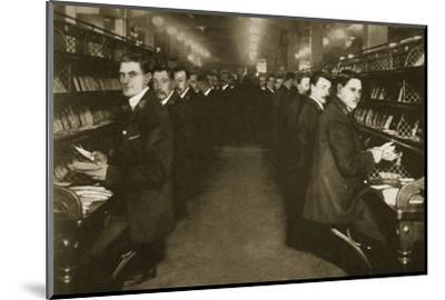 Staff sorting letters at the Post Office, Mount Pleasant, London, 20th century-Unknown-Mounted Photographic Print