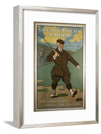 'The East Coast, Ideal for Golfing', Great Eastern Railway poster, early 1920s-John Hassall-Framed Giclee Print