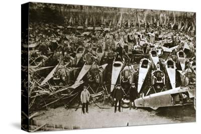 German war materiel destroyed under the terms of the Armistice, c1918-c1919(?)-Unknown-Stretched Canvas Print