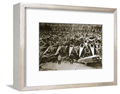 German war materiel destroyed under the terms of the Armistice, c1918-c1919(?)-Unknown-Framed Photographic Print