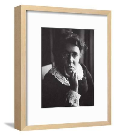 Emma Goldman, Russian-born American anarchist and agitator, early 20th century-Unknown-Framed Photographic Print