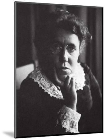Emma Goldman, Russian-born American anarchist and agitator, early 20th century-Unknown-Mounted Photographic Print