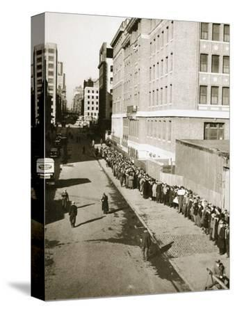 The breadline, a visible sign of poverty during the Great Depression, USA, 1930s-Unknown-Stretched Canvas Print
