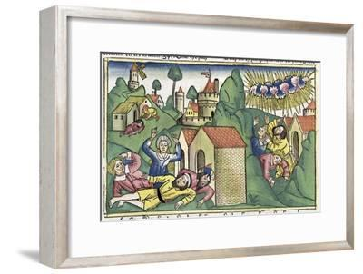 Exodus 11:1-10: the death of the firstborn sons, one of The Seven Plagues of Egypt-Unknown-Framed Giclee Print