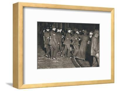 The Women's Freedom League attempting to enter the House of Commons, London, 1908-Unknown-Framed Photographic Print