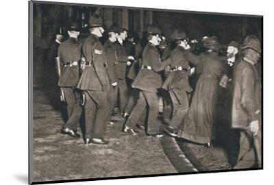The Women's Freedom League attempting to enter the House of Commons, London, 1908-Unknown-Mounted Photographic Print