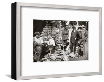 Mr Asquith watching men adjusting fuses, Somme campaign, France, World War I, 1916-Unknown-Framed Photographic Print