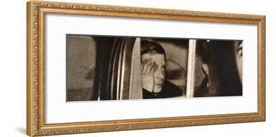 Edward VIII leaving Windsor Castle, after his abdication speech, 11 December, 1936-Unknown-Framed Photographic Print