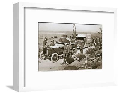 British armoured car, near Guillemont, France, Somme campaign, World War I, 1916-Unknown-Framed Photographic Print