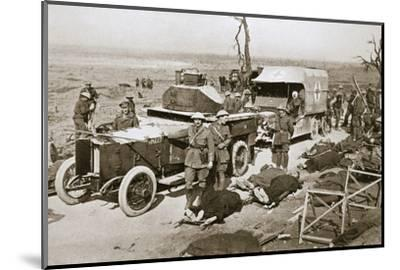 British armoured car, near Guillemont, France, Somme campaign, World War I, 1916-Unknown-Mounted Photographic Print