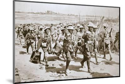 Australian machine-gunners returning from the trenches, France, World War I, 1916-Unknown-Mounted Photographic Print