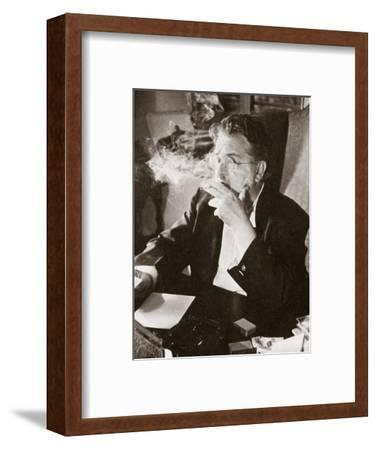 Alexander Woollcott, American critic, raconteur, and radio presenter, early 1930s-Unknown-Framed Photographic Print