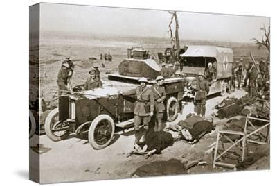 British armoured car, near Guillemont, France, Somme campaign, World War I, 1916-Unknown-Stretched Canvas Print