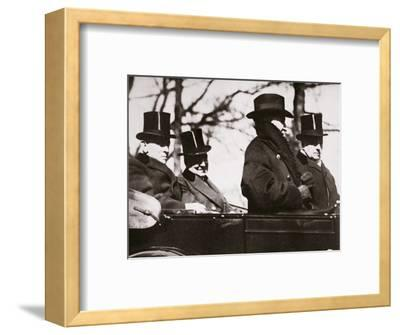 Presidents Wilson and Harding travelling to the Capitol, Washington DC, USA, 1921-Unknown-Framed Photographic Print