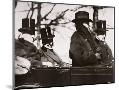Presidents Wilson and Harding travelling to the Capitol, Washington DC, USA, 1921-Unknown-Mounted Photographic Print