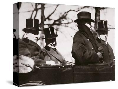Presidents Wilson and Harding travelling to the Capitol, Washington DC, USA, 1921-Unknown-Stretched Canvas Print