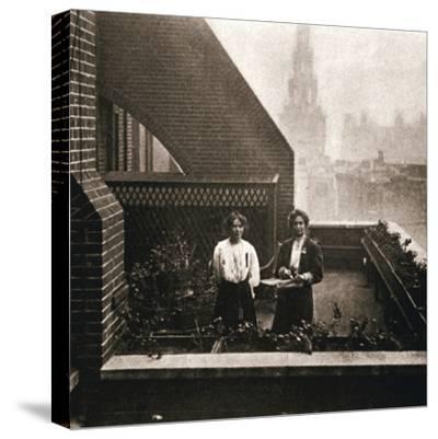 Emmeline and Christabel Pankhurst, British suffragettes, London, 12 October 1908-Unknown-Stretched Canvas Print