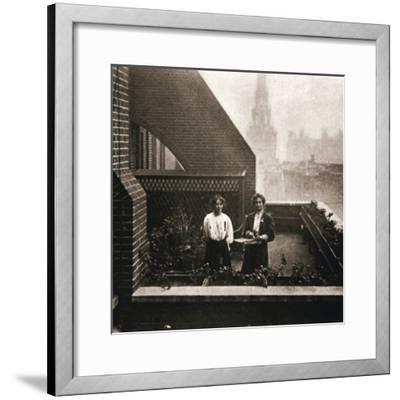 Emmeline and Christabel Pankhurst, British suffragettes, London, 12 October 1908-Unknown-Framed Photographic Print