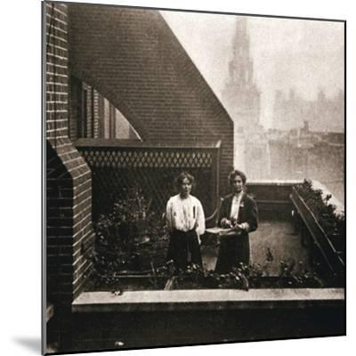 Emmeline and Christabel Pankhurst, British suffragettes, London, 12 October 1908-Unknown-Mounted Photographic Print