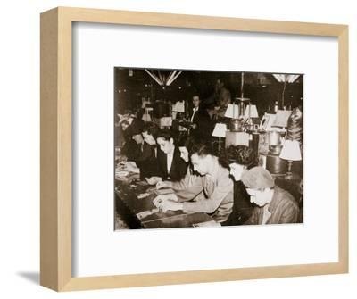 Automobile workers playing bingo at a carnival at Dearborn, Michigan, USA, c1938-Unknown-Framed Photographic Print