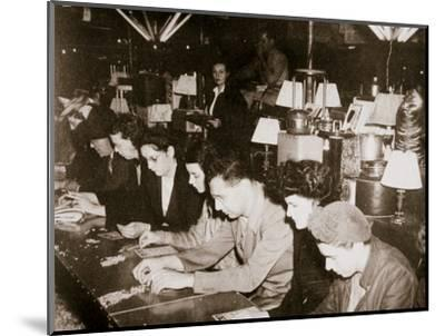 Automobile workers playing bingo at a carnival at Dearborn, Michigan, USA, c1938-Unknown-Mounted Photographic Print