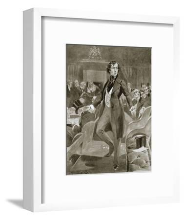Disraeli's first speech in the House of Commons, London, 7 December 1837 (1901)-Unknown-Framed Giclee Print