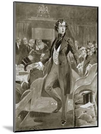 Disraeli's first speech in the House of Commons, London, 7 December 1837 (1901)-Unknown-Mounted Giclee Print