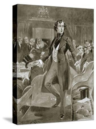 Disraeli's first speech in the House of Commons, London, 7 December 1837 (1901)-Unknown-Stretched Canvas Print