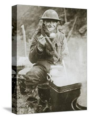 'The cook saves a large one for himself', Somme campaign, France, World War I, 1916-Unknown-Stretched Canvas Print