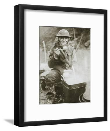 'The cook saves a large one for himself', Somme campaign, France, World War I, 1916-Unknown-Framed Photographic Print