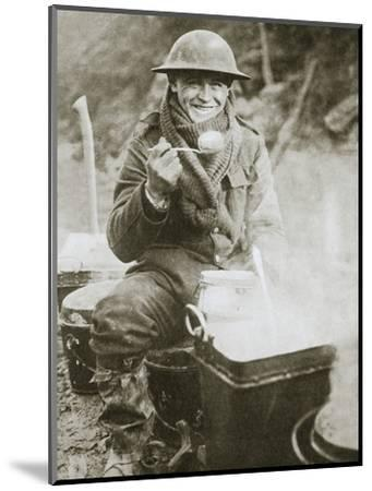 'The cook saves a large one for himself', Somme campaign, France, World War I, 1916-Unknown-Mounted Photographic Print