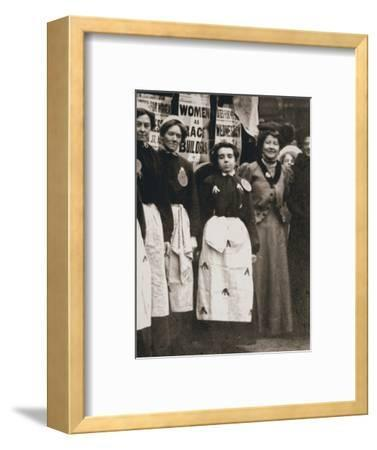Ada Flatman, British suffragette, at a demonstration she organised in Liverpool, 1909-Unknown-Framed Photographic Print
